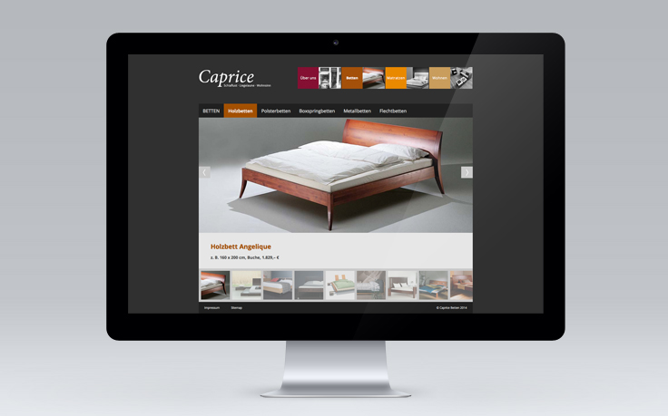 Caprice Betten Website